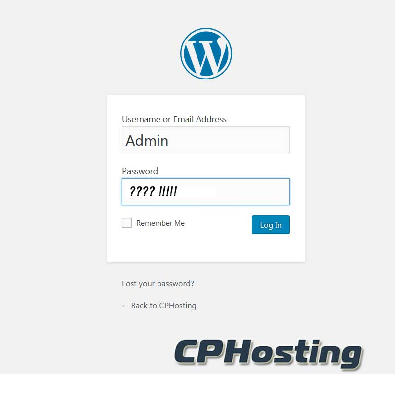 Wordpress Login Screen Forgot Password